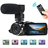 "Video Camera, ACTITOP Camera Camcorder FHD 1080P 24MP IR Night Vision 3"" LCD"
