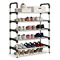 UDEAR Shoe Rack Shoe Storage Organizer Black ...