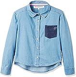 RED WAGON Mädchen Chambray-Hemd, Blau (Blue), 110 (Herstellergröße: 5 Jahre)