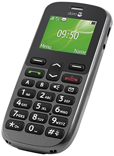 Doro PhoneEasy 508 81g Grafito - Teléfono móvil (SIM única, Despertador,...