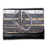 Portemonnaie Geldbörse Brieftasche // M00156106 Zaun Wood Texture Land Draht // Medium Size Wallet