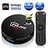 Android TV Box【4G+64G】- TV live Smart TV Box, Amlogic S905X2 Quad Core 64