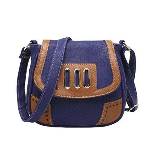 GSPStyle Damen Handtasche Schultertasche Umhängetaschen Women Handbag Damentasche Blau