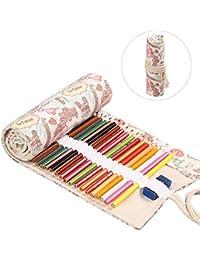 Student Stift Bleistift Tasche Reißverschluss Kosmetische Leinwand Große K Nett