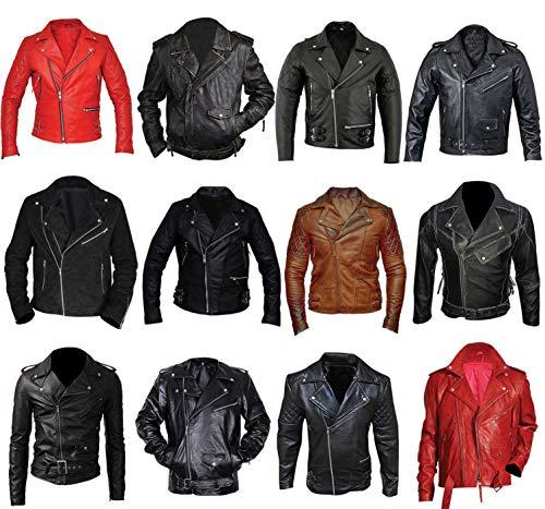Fashion_First Herren Jacke Gr. XX-Large, I Belted Black Brando Faux Leather (Belted Leder Faux)