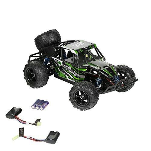 SainSmart Jr. Macchina Telecomandata 40km/h Rc Car 4WD Auto Radiocomandata 2.4Ghz 1:18 RC Monster Truck con 2 batterie Ricaricabili (Verde)