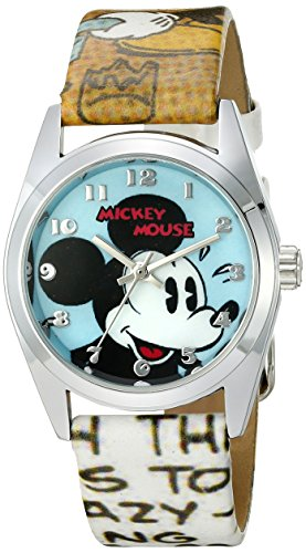 Ingersoll Mickey Mouse Men's IND 25651 Ingersoll Disney Cartoon Classic Print Analog Display Quartz Multi-Color Watch