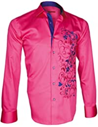 chemise brodee flowerty rose