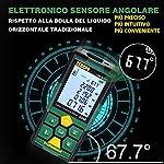 Misuratore-Laser-50mUSB-Carica-Rapida-TECCPO-telemetro-laser-Sensore-Angolo-Elettronico-99-memoria-dati-Funzione-muto-225LCD-retroilluminatoMisura-Distanza-Area-e-Volume-Angolo-Treppiede