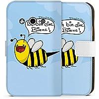 Samsung Galaxy Xcover 3 Tasche Hülle Flip Case DirtyWhitePaint Fanartikel Merchandise Ich bin eine Biene!