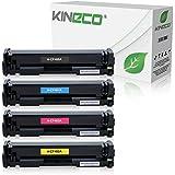 4 Kineco Toner kompatibel zu HP Color LaserJet Pro M252dw Pro 200 M252n Farblaserdrucker kompatibel zu CF-400A CF-401A CF-402A CF-403A, Schwarz 1.500 Seiten, Color je 1.400 Seiten