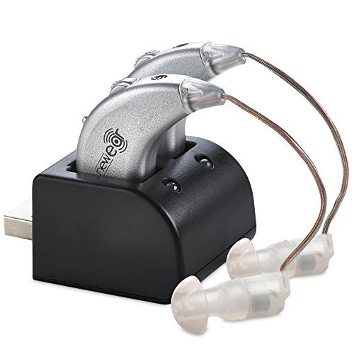 Digitale Hörverstärker - Paar Wiederaufladbarer BTE Persönlicher Hörverstärker mit USB-Ladestation - Erstklassige Hinter dem Ohr Tonverstärkung - von NewEar