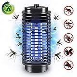 Lemebo Lampe Anti Moustique, UV LED Électronique Zapper Lampe Intérieur et Extérieur Destructeur d' Insectes Lampe Anti-Insectes Silencieux et Non-Toxic (Noir)