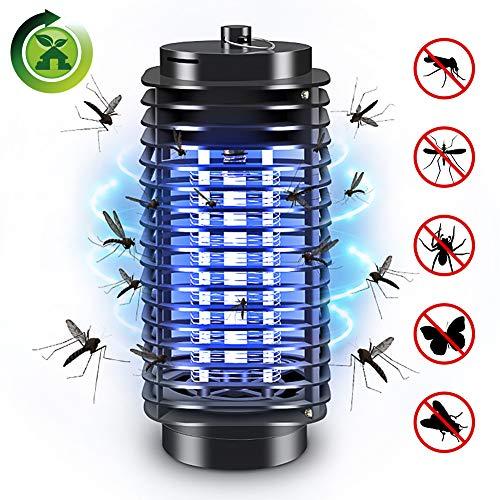 Elektrischer Insektenvernichter, Mückenfalle UV Insektenvernichter Mückenlampe Schutz vor Elektrischem SchlagTragbare Insektenlampe gegen Mücken, Fliegen, Moskitos für Innen Schlafzimmer und Gärten