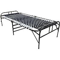 LUSTER SmartBase Niwar Bed, Folding Bed, Guest Folding Bed Cot, Compact, Portable & Lightweight Folding Bed Frame for…