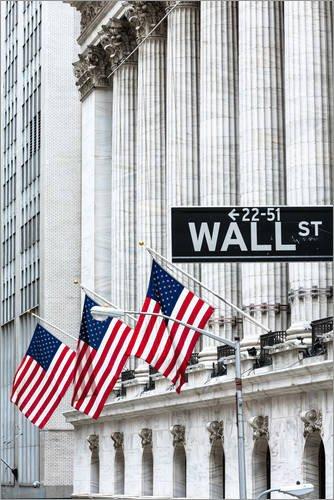 Posterlounge Acrylglasbild 40 x 60 cm: New York Stock Exchange, Wall Street, New York, USA von Matteo Colombo - Wandbild, Acryl Glasbild, Druck auf Acryl Glas Bild -