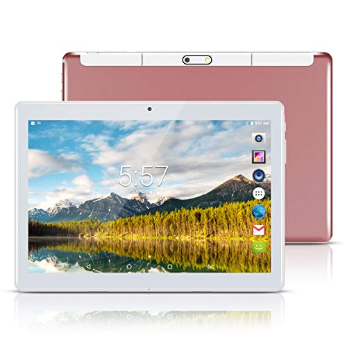 Android Tablet PC 10,1 Zoll,PADGENE 1280x800 Quad Core CPU Tablet PC Dual-SIM Slots USB/SD Dual Kamera 2MP und 5MP WiFi/3G Entsperrt GPS Telefonfunktion - Tablet 3g Wifi Entsperrt