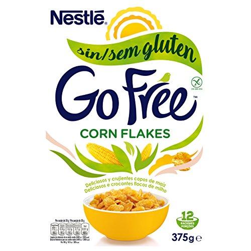 Nestlé Cornflakes - Cereales Desayuno Sin Gluten - 4 Paquetes de 375 g