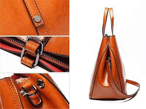 Fabelhaft Korean Style Damen Einfache Handtaschen Ledertaschen Black