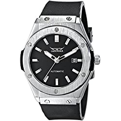 AMPM24 Black Dial Mens Auto Automatic Date Mechanical Black Rubber Wrist Watch + AMPM24 Gift Box PMW085