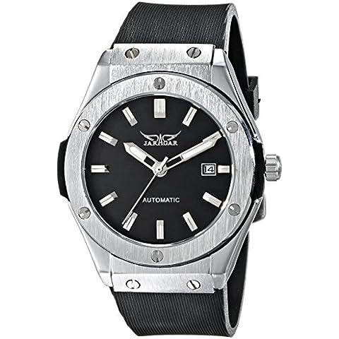 AMPM24 PMW085 - Reloj Mecánico Hombre, Correa de Goma Negro, Fecha