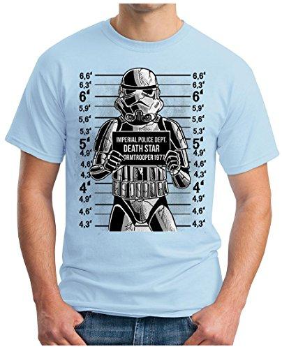 OM3 - WANTED-TROOPER - T-Shirt GEEK, S - 5XL Himmelblau