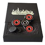 Spinferno Premium Fidget Spinner mit Hochwertiges Hybrid Si3N4 Keramik-Lager | Gegen Stress und Anspannung | Schwarz und Rot mit Premium Geschenkbox