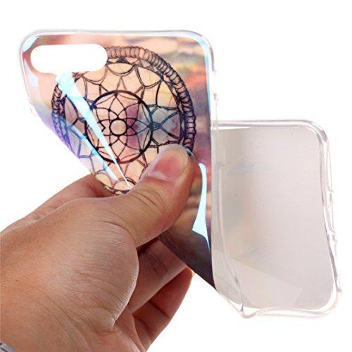 AIXIN Coque Peinture Feather Transparente iphone 7plus Etui Silicone,Housse TPU Souple Etui de Protection Silicone Case Soft Gel Cover Anti Rayure Anti Choc Design 04
