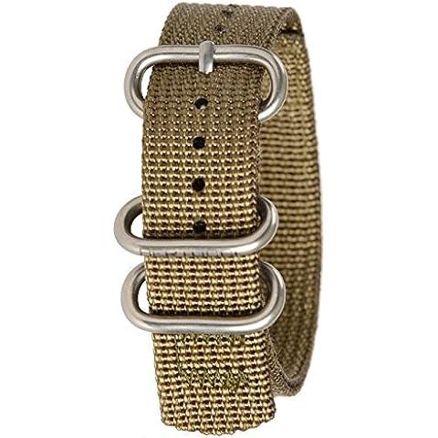 Bertucci B-207Hombres de heavy duty nylon de oliva de patrulla de dos capas reloj inteligente banda