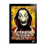 Masque de Dali de la série télévisée La Casa de Papel (La Casa de Papel) - Illustration Originale Encadrée, Pop-Art Peinture, Presse Artistique, Poster, Toile Imprimée, Image sur Toile, Affiche d'Art, Affiche de Film