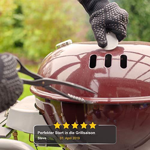 51wT5pUU5ZL - R-Beretta Hochwertige Grillhandschuhe hitzebeständig bis zu 500 °C - Inklusive E-Book - Ofenhandschuhe aus Kevlar-Nomex Fasern – Kaminhandschuhe extra Lang