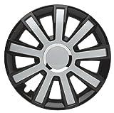 ALBRECHT automotive 49374 Radzierblende Flash III 14 Zoll, 1 Satz, Schwarz/Silber