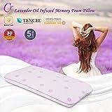 Cr Lavendel Memory-Schaum Kissen, 70 x 40 x 13 cm, speziell für Frauen entwickelt, mit luxuriösem, abnehmbarem und waschbarem Tencel Cover