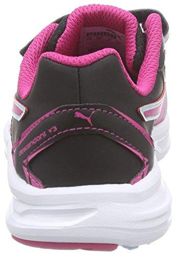 Puma Descendant Sl V3 V Kids, Baskets Basses mixte enfant Noir - Schwarz (black-beetroot purple-clearwater 06)