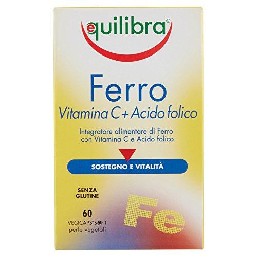 Equilibra Ferro con Vitamin C e Acido Folico - 60 Perle Vegicaps