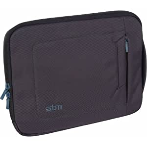 Apple iPad Jacket, Sleeve, Bag, with Strap- Black & Blue trim, by STM