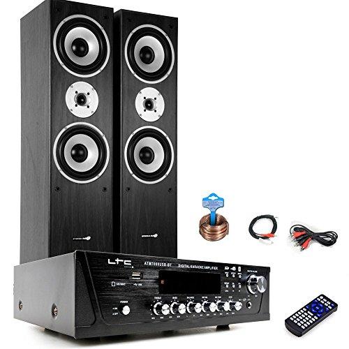 Hifi Heimkino Musikanlage Bluetooth USB MP3 Verstärker Hyundai Standboxen HIFI-Premium 6