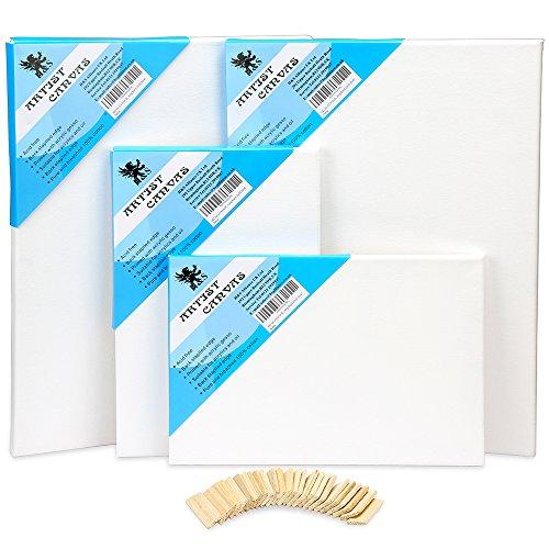 H & S Set von 4Künstler, blanko, Leinwand Rahmen Keilrahmen Acryl Öl Wasser Maltafel 20x 3030x 40 -