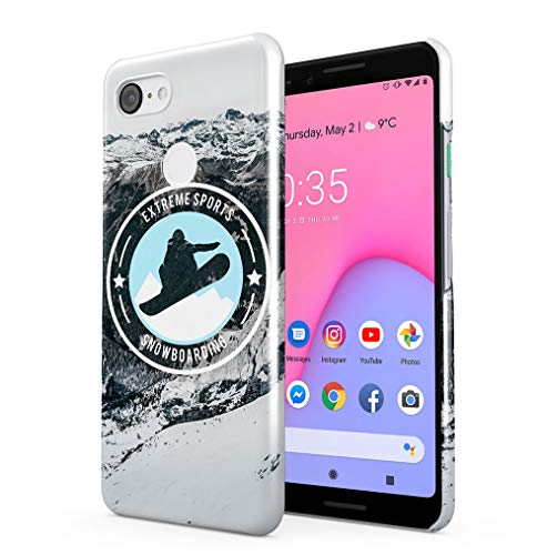 69081331023e0 Maceste Snowboarding Extreme Sports Coque Pou Google Pixel 3 SnapOn Hard  Plastic Phone Protective Housse Etui Case Cover