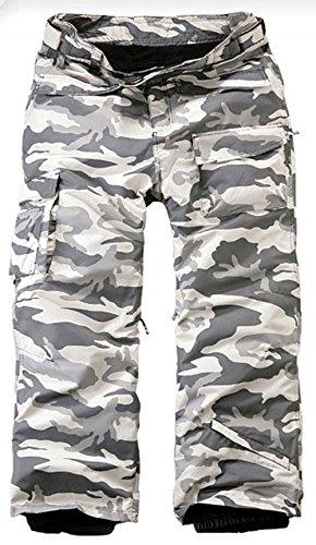 7080f9ab088 Mens Premium Ski Snowboard Wear Board Suit Waterproof Pants Camo Gray