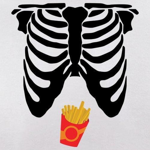 Skelett Pommes Bauch - Damen T-Shirt - 14 Farben Weiß