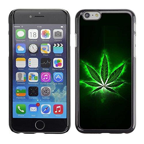 Graphic4You Marihuana Cannabis Hanf Blatt Raucher Design Harte Hülle Case Tasche Schutzhülle für Apple iPhone 6 / 6S Design #2