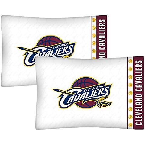 Juego de 2NBA Cleveland Cavaliers fundas de almohada de baloncesto Logo del equipo ropa de cama fundas de almohada
