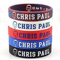 Lorh's store Basketball Chris Paul Porträt Armband Nummer 3 Silikon Inspirierende Wort Sport Schweißbänder 5 Pcs