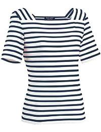 Saint James Women's T-Shirt multicolour Neige/Navy