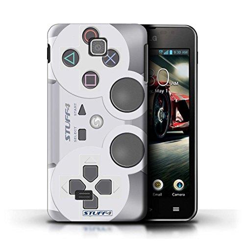 Kobalt® Imprimé Etui / Coque pour LG Optimus F5/P875 / Xbox conception / Série Console (jeux vidéo) Playstation PS1