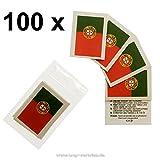 100er Portugal Tattoo Fahne Fan Set - EM Fanartikel 2016 - Portugal Flag (100)