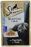 Sheba Adult Katzen-/Nassfutter, für Erwachsene Katzen Delikatesse in Gelee, mit Thunfisch, 36 Portionsbeutel (3 x 12 x 85 g)