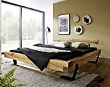 Main Möbel Bett Balkenbett Holz massiv Eiche 'Tom 180x200cm Wildeiche geölt