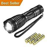 Led Torch Tactical Flashlight, Vansky Pocket Torch 800 Lumen Cree XML2 T6 Adjustable